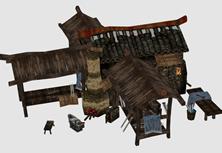古代铁匠铺,武器店3D模型
