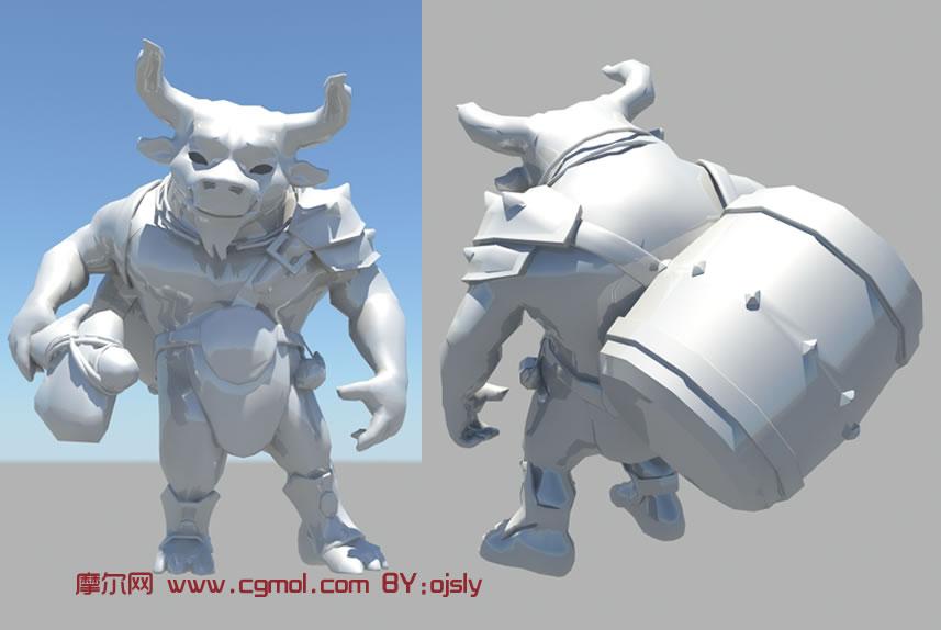 牛怪 牛头怪maya模型高清图片
