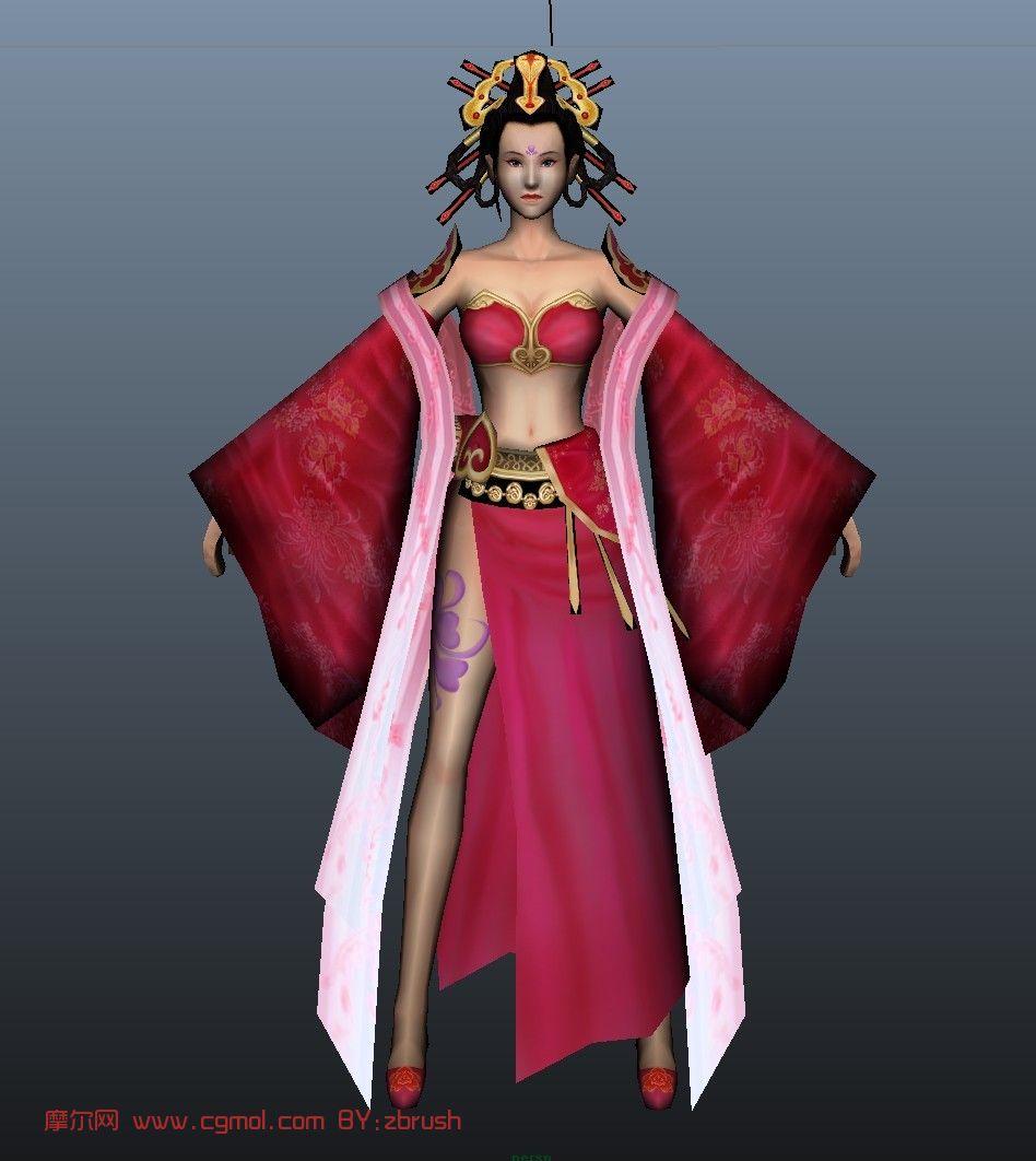 美女舞姬3d模型 历史角色