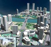 中轴线城市规划3D模型