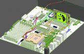 电脑主板,cpu,显卡3D模型