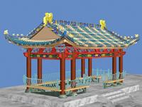 仿古建筑,亭子3D模型