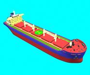 5.8W散货船,货轮,运输船maya模型
