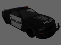 变形金刚路障,警车3D模型