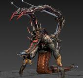 3d娜迦怪物模型