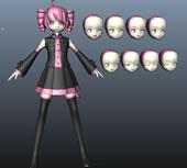 初音系列之重音3D模型(脸部有多种表情可更换)
