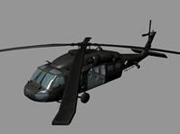 黑鹰直升机maya模型