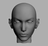 漂亮女人头3D模型