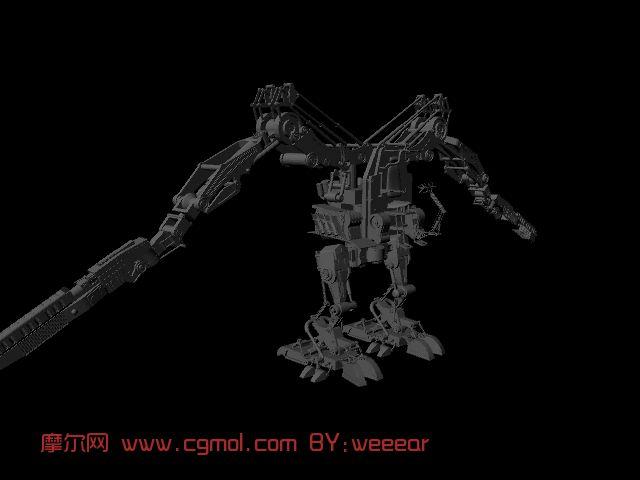 机器人maya模型 加绑定高清图片