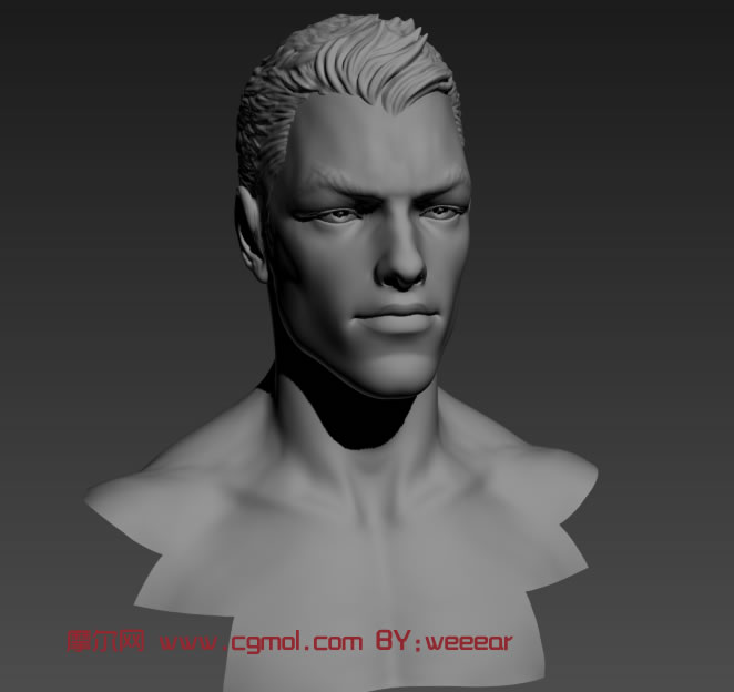 d模型,雕塑角色,动画角色,3d 高精度人物头部3d模型 高清图片