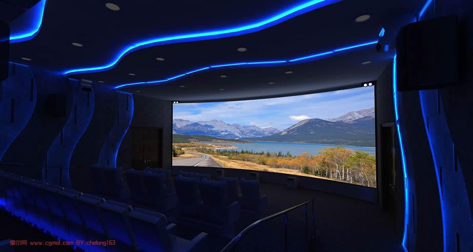 4D影院,电影院,影厅3D模型