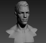 高精度人物头部3D模型