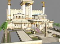 希腊圣殿,古代建筑3D模型