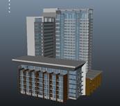 楼房,商业楼,办公楼maya模型