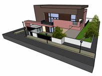 别墅3d模型,skp模型