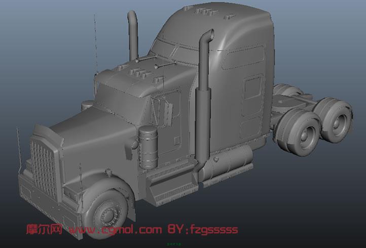 变形金刚擎天柱汽车车头3D模型