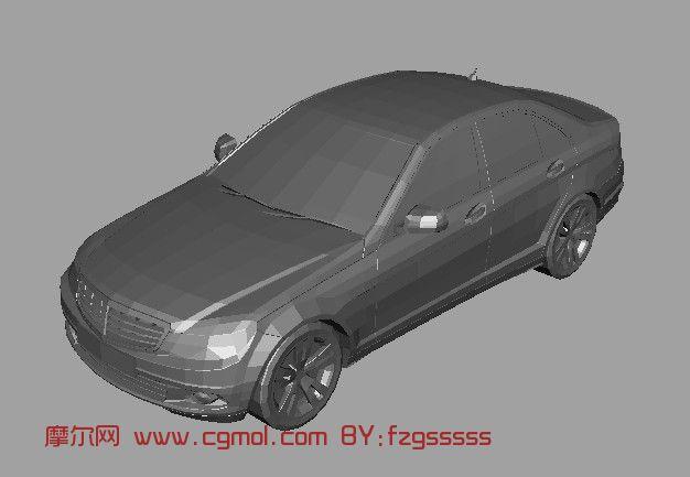 大众朗逸汽车3d模型