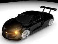 奥迪跑车,赛车,美国赛车maya模型