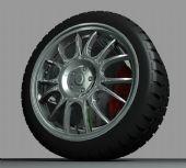 汽车轮胎,轮毂3D模型
