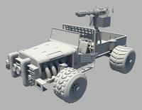 皮卡改装战车maya模型