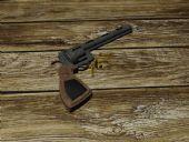 手枪,左轮手枪maya模型