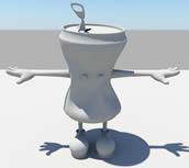 可乐瓶卡通人物maya模型
