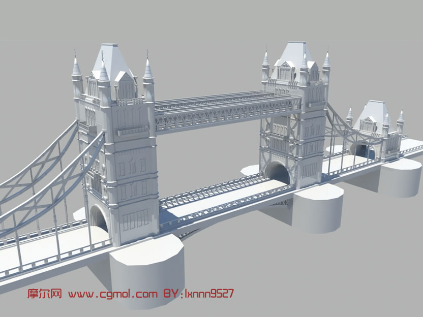 伦敦大桥3d模型,现代场景