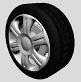 轿车轮胎,汽车轮胎,轮毂3D模型