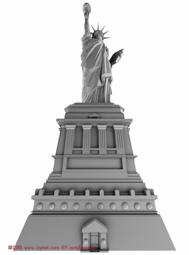 自由女神雕像3D模型
