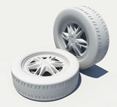 雪弗兰车轮,轮胎,轮毂3D模型