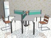 桌椅,办公桌椅,办公室3D模型