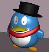 3D模型QQ企鹅