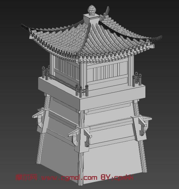 过街楼,塔楼3D模型