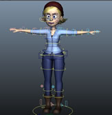 Bonnie Rig,邦妮角色绑定maya模型