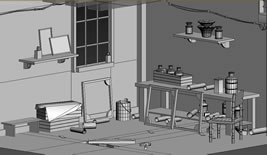 工作室一角max模型