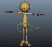 很经典的小黄人,maya绑定模型