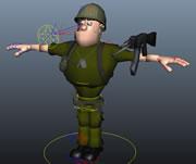 带绑定的大兵maya模型