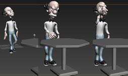 老头喝酒动作3D模型