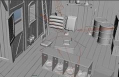 仓库,储物房,场景maya模型
