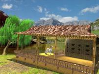 山村的竹篱笆3D模型