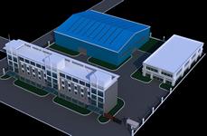 工厂鸟瞰图3D模型