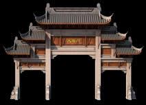 大石门,牌坊3D模型