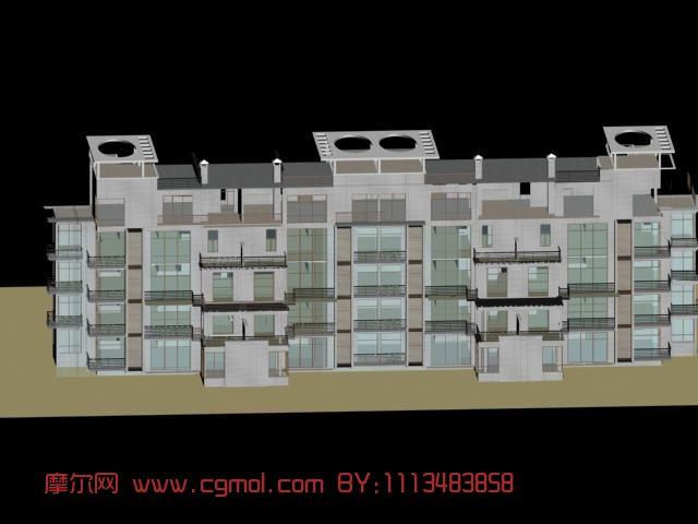 建筑模型 中式建筑  关键词:建筑住房楼房 作品描述: 上一个作品