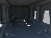 神殿,科幻场景3D模型