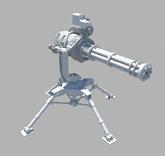 加特林机器,枪械maya模型