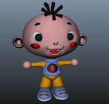 卡通小男孩,小三毛maya模型