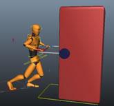 机器人拉重物动作maya模型