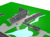 古代街道,长廊,古代建筑3D模型