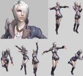TERA游戏女角色3D模型带骨骼动画