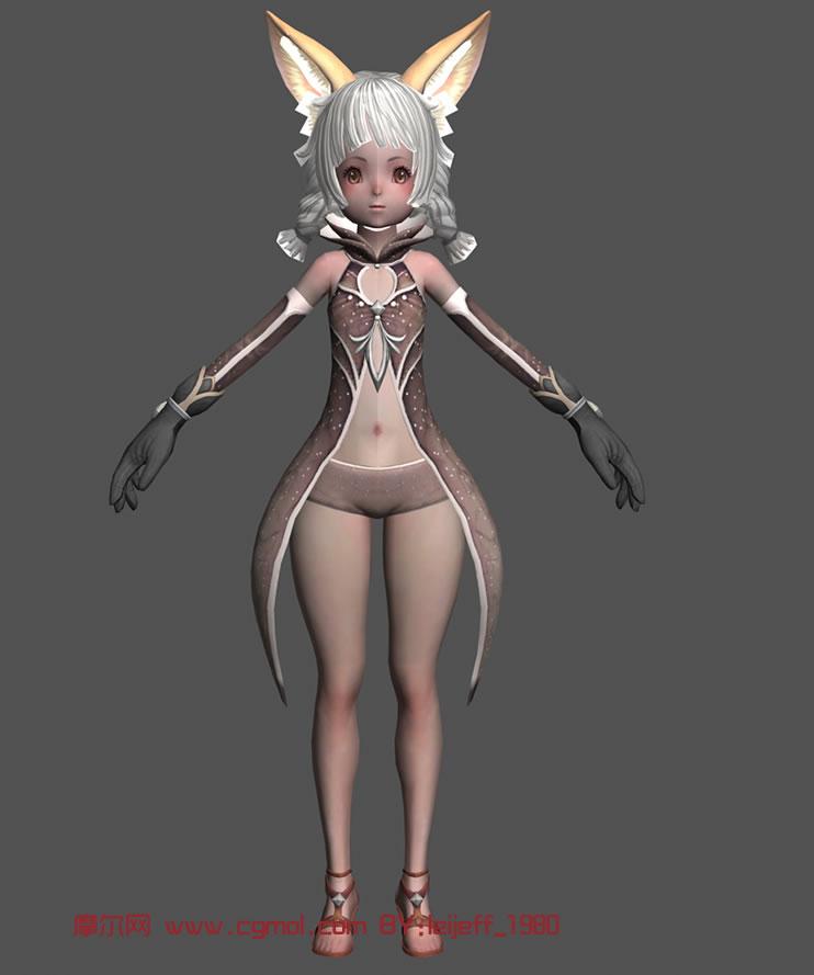 狐灵 角色 mm3d模型,卡通 高清图片